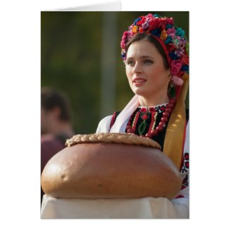Ukrainian Dancer Bread and Salt Card