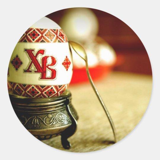 Ukrainian Easter Classic Round Sticker