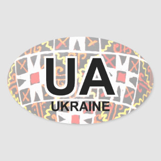 Ukrainian Easter Egg Auto Sticker