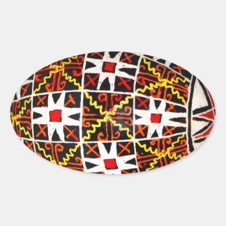 Ukrainian Easter Egg Oval Stickers