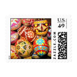 Ukrainian Easter Eggs Postage Stamp