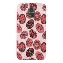 Ukrainian easter eggs red pattern galaxy s5 case