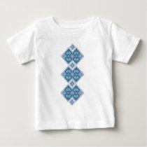 Ukrainian embroidery blue vyshyvanka baby T-Shirt