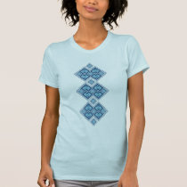 Ukrainian embroidery blue vyshyvanka T-Shirt