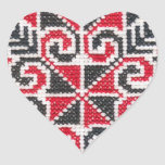Ukrainian Embroidery Heart Sticker