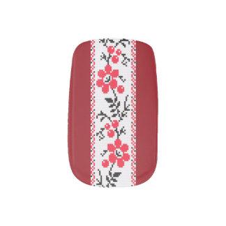 Ukrainian Embroidery Nail Art Blooming Kalyna