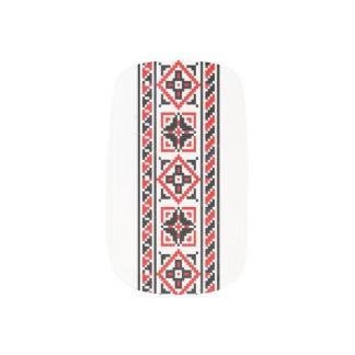 Ukrainian Embroidery Nail Art Crosses & Roses