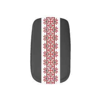 Ukrainian Embroidery Nail Art Geometric