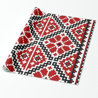 Ukrainian embroidery wrapping paper