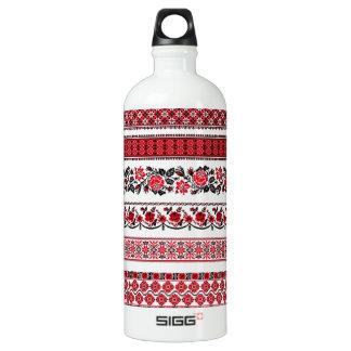UKrainian ethnic pattern Aluminum Water Bottle