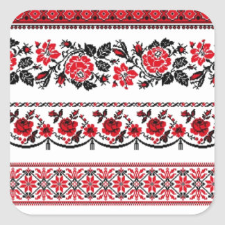 UKrainian ethnic pattern Square Sticker