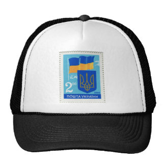 Ukrainian Flag and Trident/Tryzub Trucker Hat