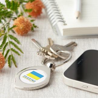 Ukrainian Flag and Ukraine Keychain
