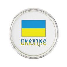 Ukrainian Flag and Ukraine Pin