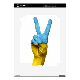 Ukrainian Flag as Peace Sign Skin For iPad 2