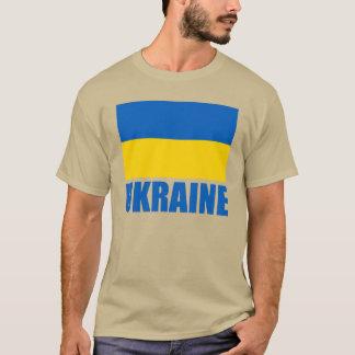 Ukrainian Flag Blue Text T-Shirt