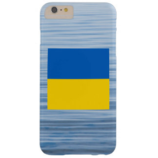 Ukrainian Flag Floating on water Barely There iPhone 6 Plus Case