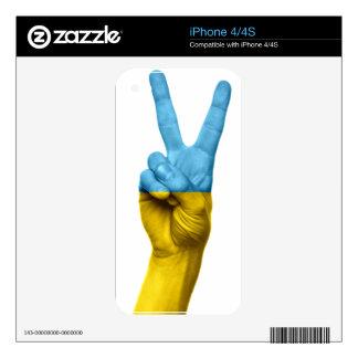 Ukrainian Flag Peace Sign iPhone 4S Skins