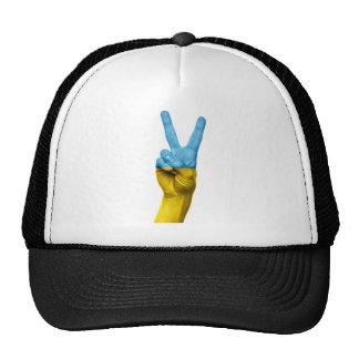 Ukrainian Flag Peace Sign Trucker Hat
