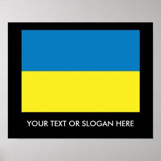 Ukrainian Flag Poster