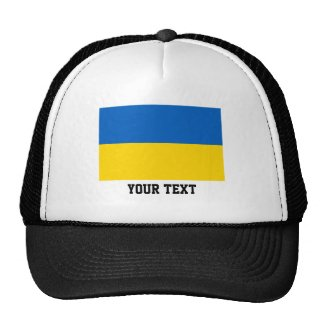 Ukrainian flag trucker hat