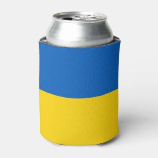 Ukrainian flag can cooler