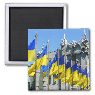 Ukrainian Flags Magnet