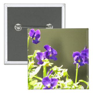Ukrainian Flowers 2 Inch Square Button
