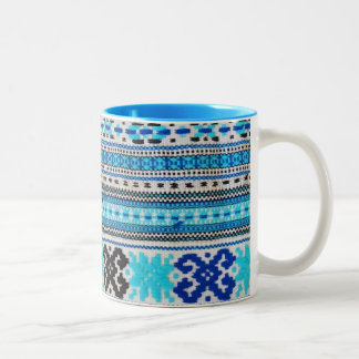 Ukrainian Folk Design Two-Tone Coffee Mug