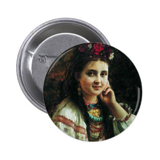 Ukrainian girl Constantin Makovsky Button
