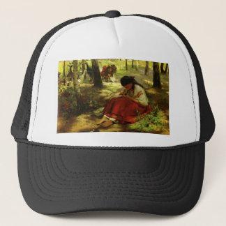 Ukrainian Girl Embroiders Trucker Hat