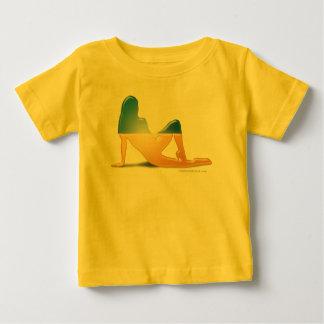 Ukrainian Girl Silhouette Flag Baby T-Shirt