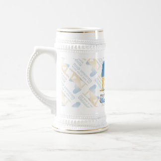 Ukrainian Girl Silhouette Flag Beer Stein