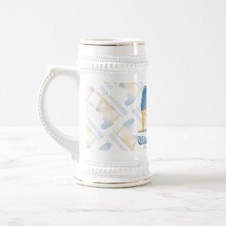 Ukrainian Girl Silhouette Flag Beer Stein