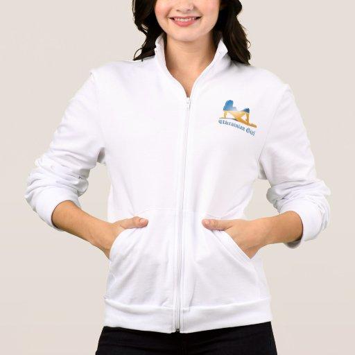 Ukrainian Girl Silhouette Flag Jacket