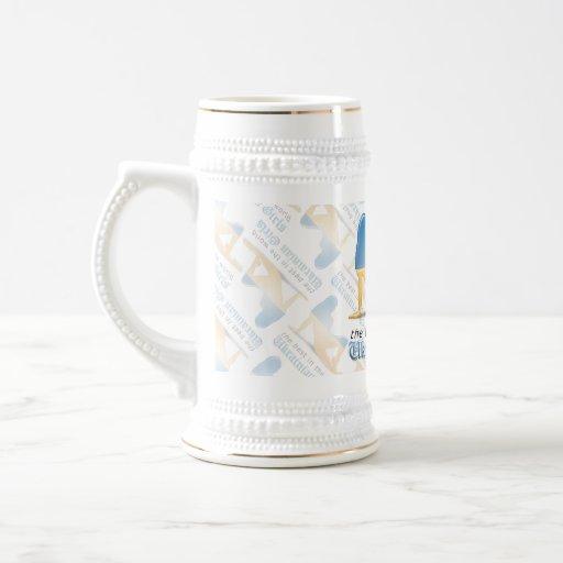 Ukrainian Girl Silhouette Flag Coffee Mug