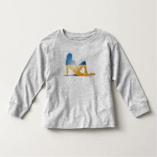 Ukrainian Girl Silhouette Flag Toddler T-shirt