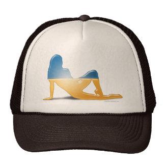 Ukrainian Girl Silhouette Flag Trucker Hat