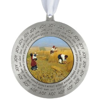 Ukrainian Harvesters Christmas Ornament