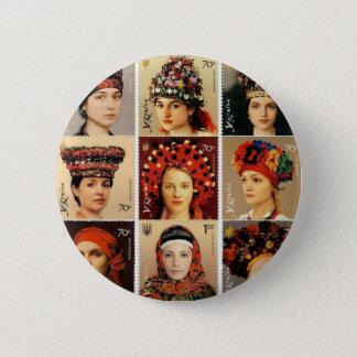 Ukrainian Headdresses Pinback Button