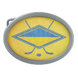 Ukrainian Hockey Flag Logo Belt Buckles