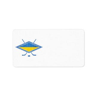 Ukrainian Hockey Flag Logo Address Label