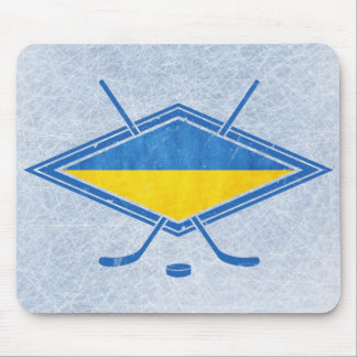 Ukrainian Hockey Flag Logo Mouse Pad