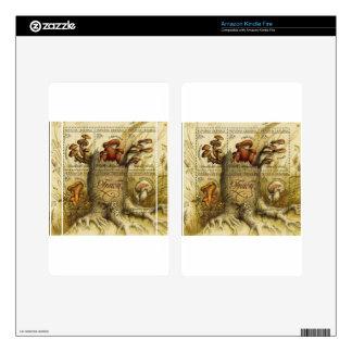 Ukrainian Hryb (Mushroom) Stamp Sheet Kindle Fire Skin