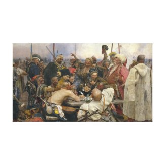 Ukrainian Kozaky Canvas Print by Repin