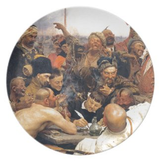 Ukrainian Kozaky/Cossacks Plate