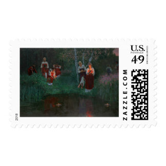 Ukrainian Kupala Night stamp by Simon Kozhin