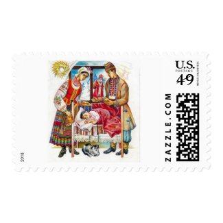 Ukrainian Nativity postage stamp