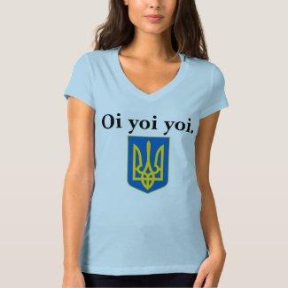 Ukrainian Oi Yoi Yoi Tryzub Shirt Women's