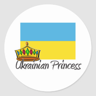 Ukrainian Princess Classic Round Sticker